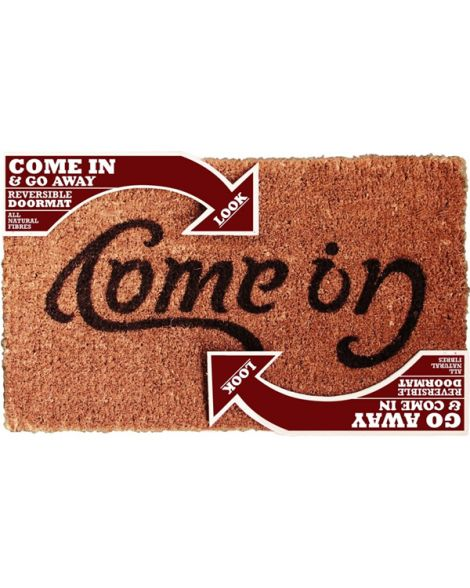 Reversible Come In Go Away Doormat