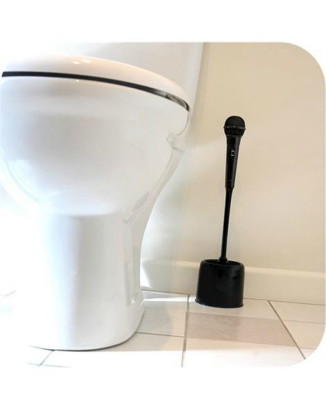 Microphone Toilet Brush