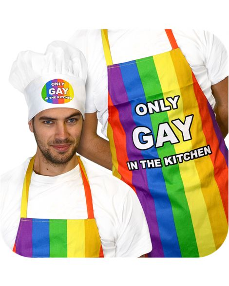 Only Gay In The Kitchen Apron & Hat