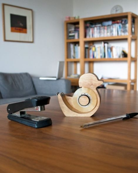 Quack Wooden Duck Tape Dispenser