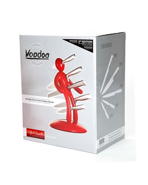 Voodoo Knife Block - Red