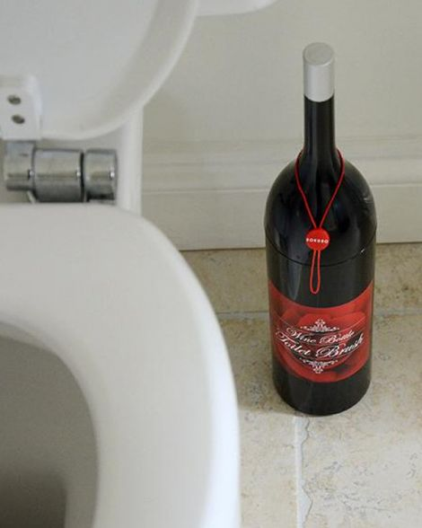 Wine Bottle Toilet Brush