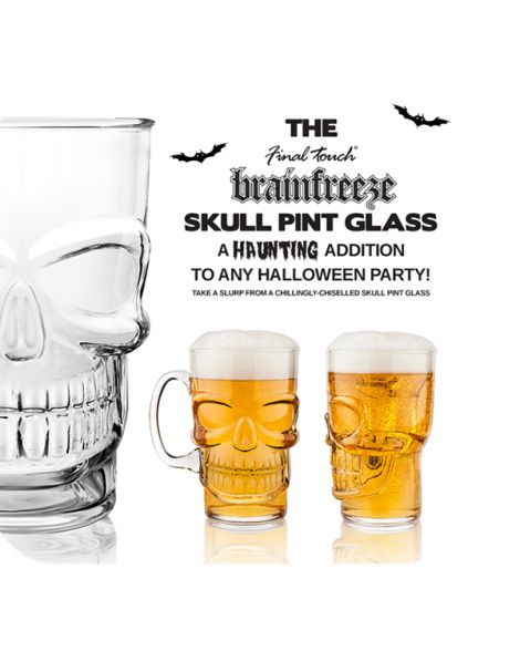 Skull Beer Pint Glass