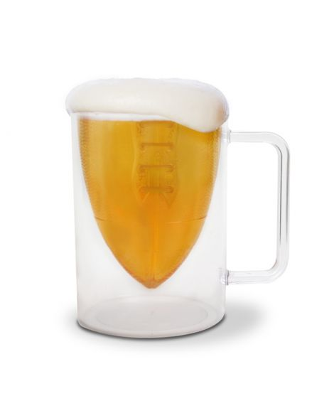 Bottoms Up Football Beer Mug