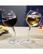 Tipsy Wine Glasses Pack of 2