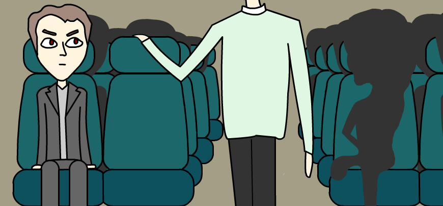 8 ways to ensure no one sits next to you on public transport the evil starer.png