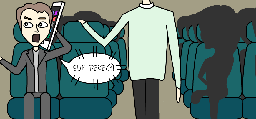 8 ways to ensure no one sits next to you on public transport the loud phone jerk.png